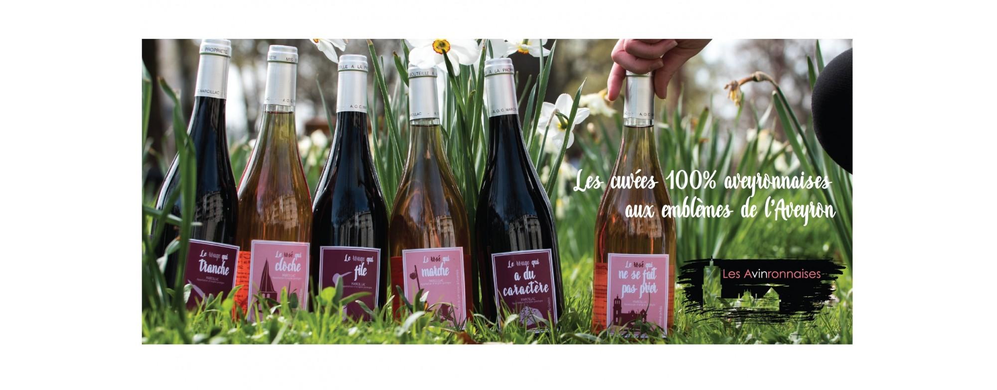 Les Avinronnaises, les cuvées 100% aveyronnaises aux emblèmes de l'Aveyron